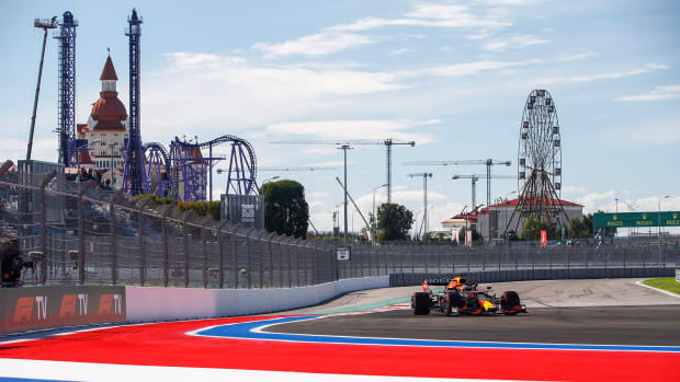 # 33 Max Verstappen (NED, Red Bull Racing), F1 Grand Prix of Russia at Sochi Autodrom on September 24, 2021 in Sochi, Russia. (Photo by HOCH ZWEI)