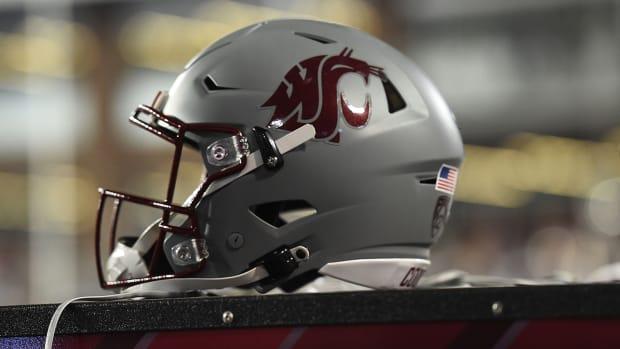 A Washington State football helmet.