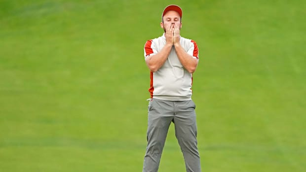 Tyrrell Hatton's face tells the European story Saturday at the Ryder Cup.