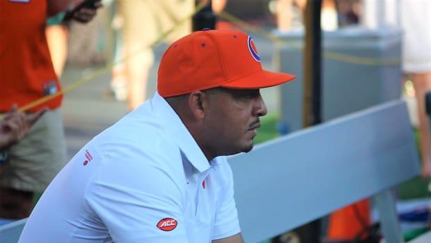 Clemson offensive coordinator Tony Elliott