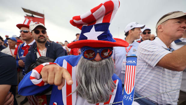 A Ryder Cup fan at Whistling Straits.