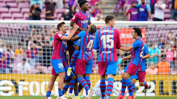Ansu Fati scores on his return for Barcelona