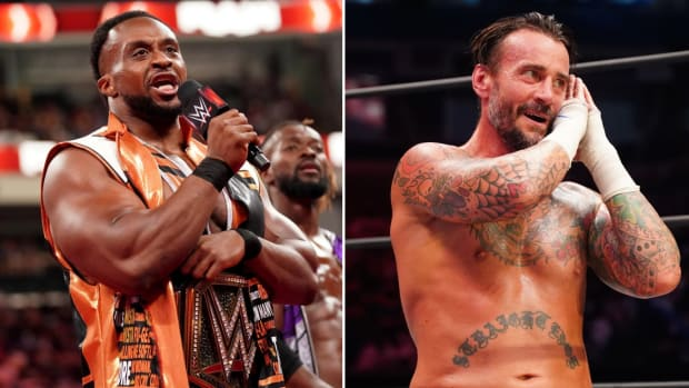 Side by side image of WWE's Big E and AEW's CM Punk