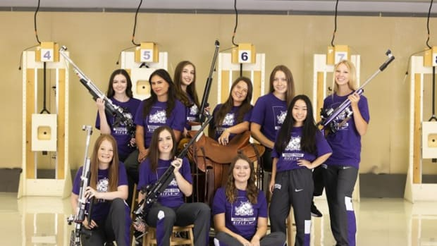 The TCU Women's Rifle Team picked up their first victory of the season with wins over Navy and VMI