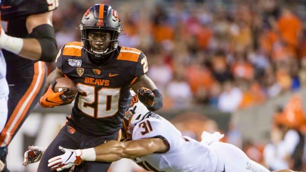 Oregon State running back B.J. Baylor