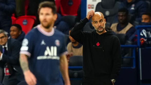 Pep Guardiola and Man City fall to Messi's PSG