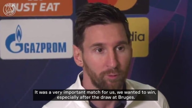 Messi 'very happy' to score his first goal for PSG
