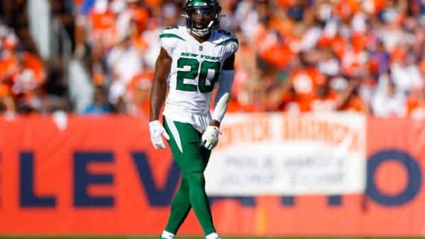 Jets safety Marcus Maye against Denver Broncos