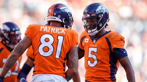 Denver Broncos Teddy Bridgewater Tim Patrick