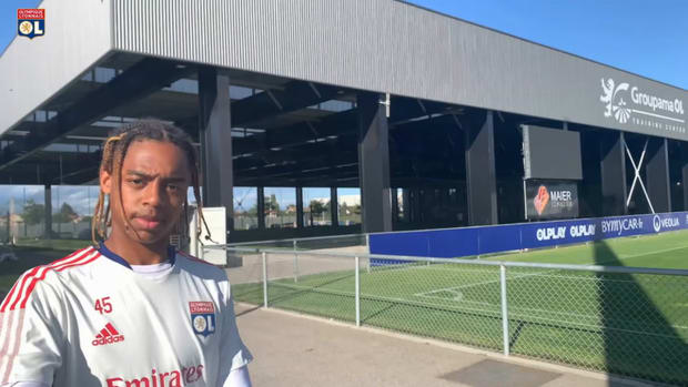 Olympique Lyonnais last training session before Brondby