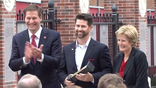 Eric Crouch 2021.10.01 Nebraska Athletic Hall of Fame ceremony