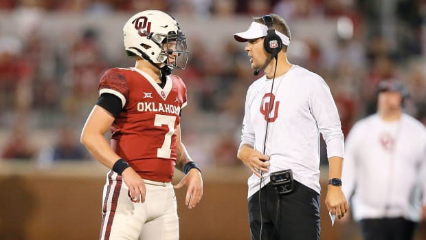 Oklahoma's Spencer Rattler and Lincoln Riley talk
