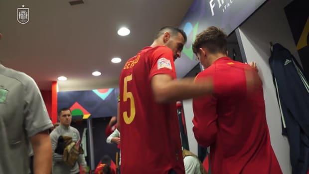 Behind the scenes: Gavi's historic Spain debut