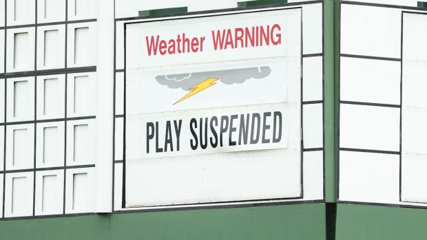 Weather warning third round 2021 Masters