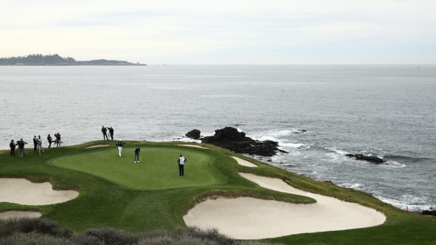 7th hole 2021 AT&T Pebble Beach Pro-Am 1st round