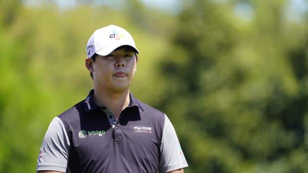 Si Woo Kim at 2021 RBC Heritage