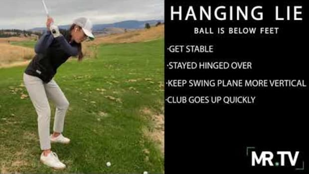 How to handle a hanging lie