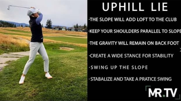 How to handle uphill lies