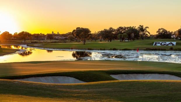 PGA National — 17 Green Behind Champion