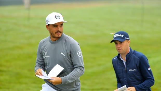 Rickie Fowler and Justin Thomas at the 2020 PGA Championship