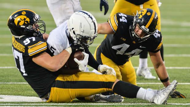 Iowa's defense swarms PSU's Jahan Dotson