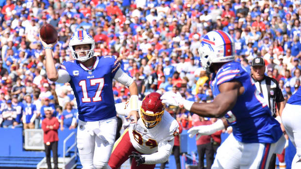 Bills QB Josh Allen (17) made a quantum leap after his second year in the NFL.