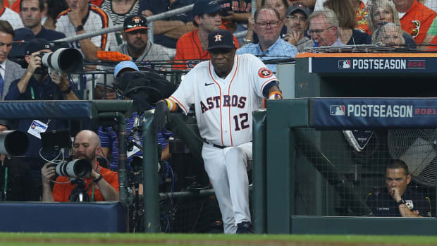 Dusty Baker with the Astros.