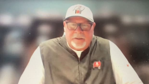 Bruce Arians talked to Eagles writers on Zoom on Oct. 12, 2021