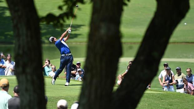 Hideki Matsuyama plays the 2021 Tour Championship in Atlanta.
