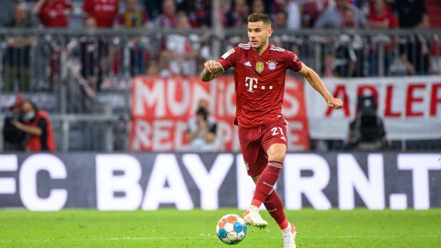 Lucas Hernandez playing for Bayern.