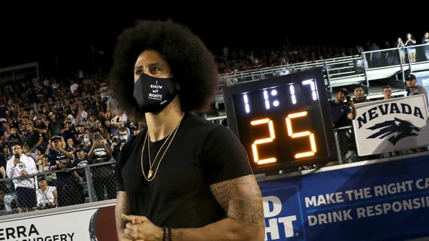 Colin Kaepernick gets inducted into the Nevada Sports Hall of Fame.