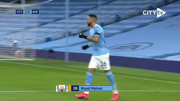 Mahrez's hat-trick vs Burnley in 2020-21