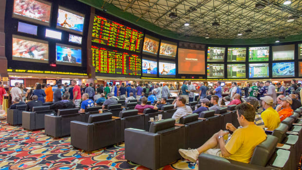 The sports book at the Westgate Hotel in Las Vegas.