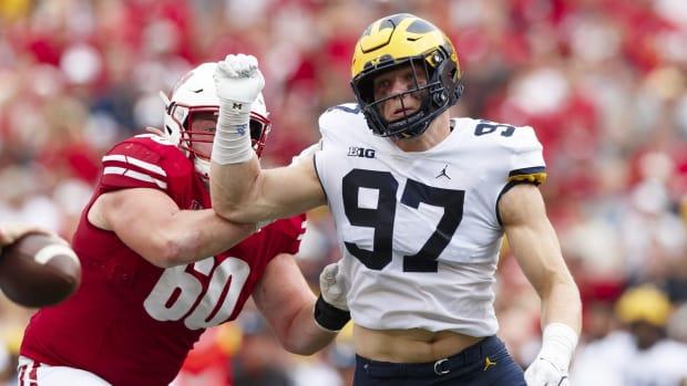 Michigan edge rusher Aidan Hutchinson