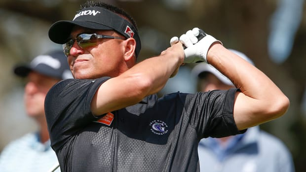 Robert Gamez, shown at the 2020 Bay Hill Invitational, owns the record for longest time between wins on the PGA Tour.