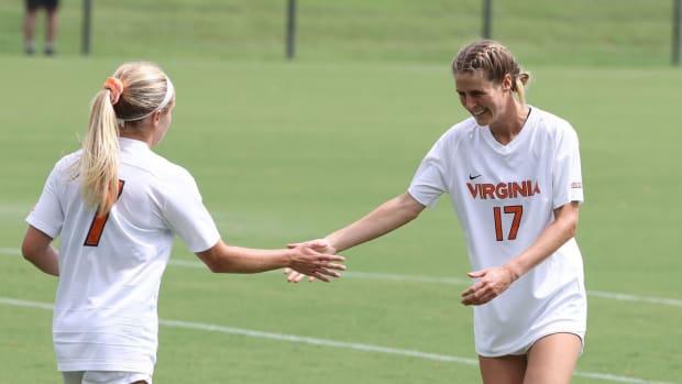 Alexa Spaanstra and Haley Hopkins, Virginia Cavaliers women's soccer