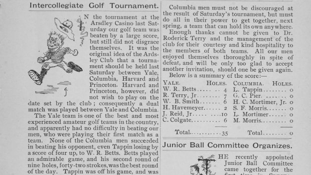 The Columbia Spectator's coverage of the 1895 golf event.