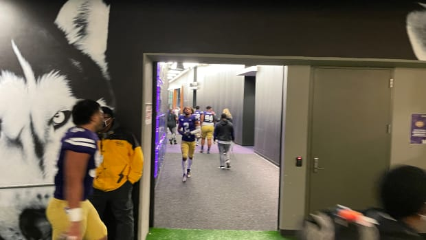 Husky tunnel after the UCLA game.