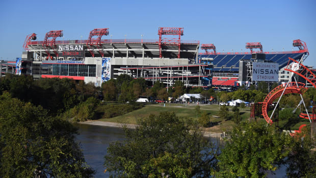 View of Nissan Stadium before the Tennessee Titans game against the Buffalo Bills.