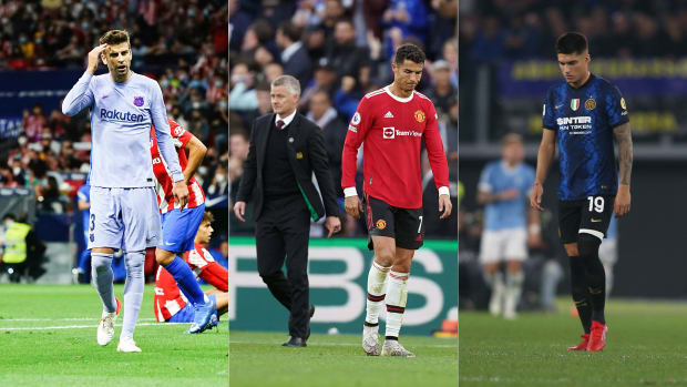 Barcelona, Manchester United and Inter Milan are feeling the heat in Champions League