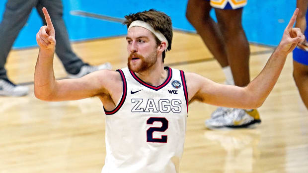 Gonzaga's Drew Timme during the Final Four