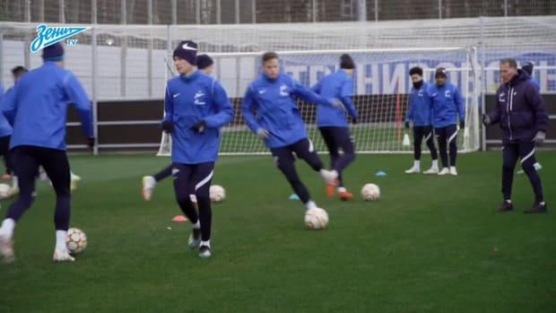 Zenit St. Petersburg prepare to face Juventus