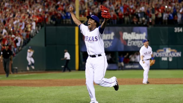 Texas Rangers / Neftali Feliz / 2010 American League Champions