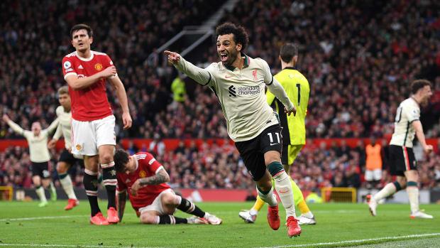 Mohamed Salah scores a hat trick for Liverpool vs. Man United