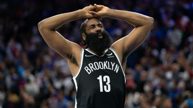 James Harden playing for the Nets.