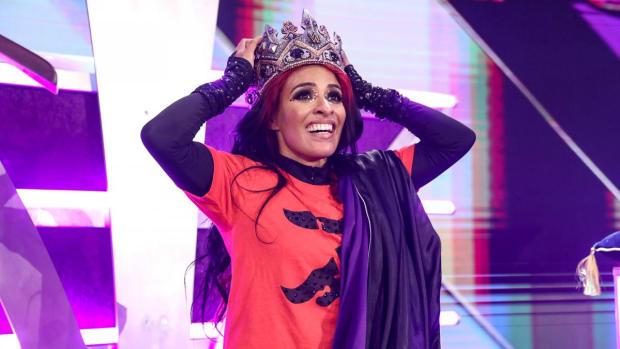 Zelina Vega after winning the Queen's Crown tournament