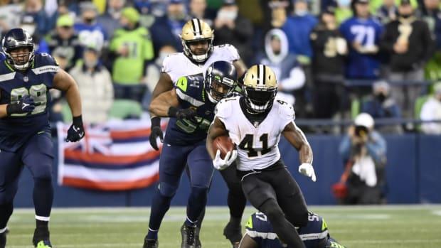 New Orleans Saints running back Alvin Kamara (41)