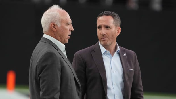 Eagles owner Jeffrey Lurie and GM Howie Roseman