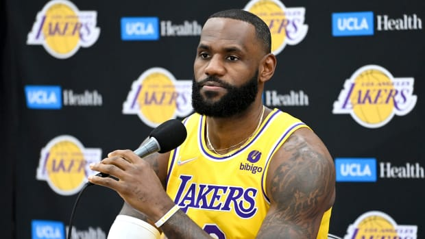 LeBron James during the Lakers media day.