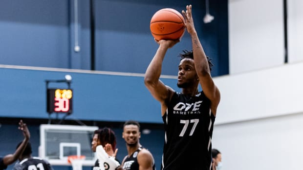 Overtime Elite guard and NBA draft prospect Jean Montero
